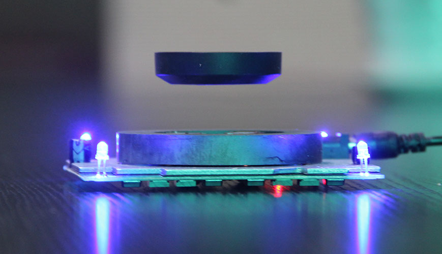 magnetic levitating display stand
